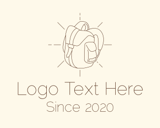 Backpacking - Camping Bag Backpack logo design