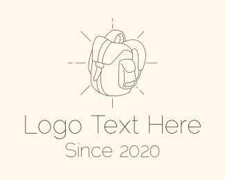 Trekking - Camping Bag Backpack logo design