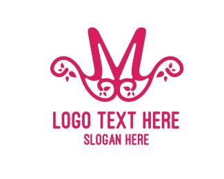 Mom - Pink Pattern M logo design