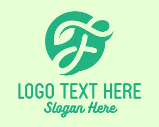 Lawn Care - Eco Letter F logo design