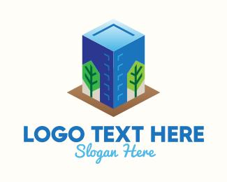 Suburban - Concrete Jungle Building  logo design
