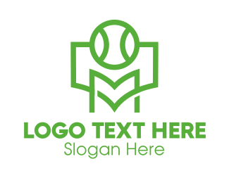 Tennis Tournament - Tennis Tournament Letter M logo design