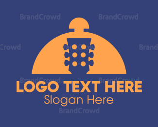 Brass - Food Music  logo design