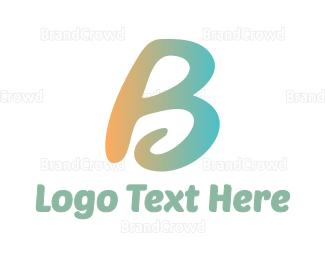 Meditation - Curly B  logo design