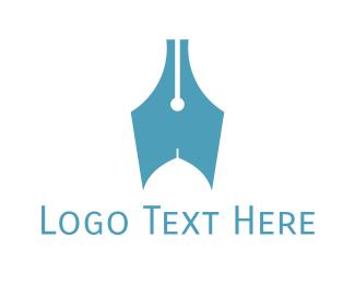 Writer - Writer Quill logo design