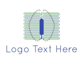 Binary - Brain Code logo design