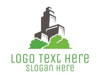 Condominium - Green Living Condominium logo design
