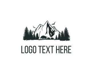 Snow - Mountains Nature logo design