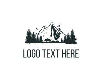 Hunting - Mountains Nature logo design