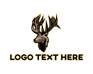 Raindeer - Antler Gaming logo design