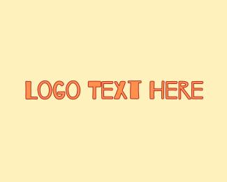 Learning Center - Peach & Childish logo design