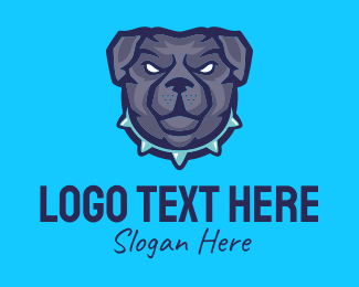 Dog Head - K9 Dog Security  logo design