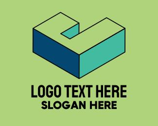 Pop Art - 3D Pixel Letter J logo design