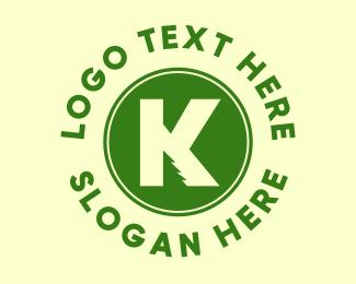 Christmas Tree - Pine Tree Letter K logo design