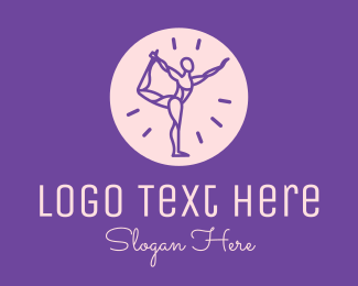 Physical Fitness - Yoga Body Pose logo design