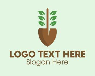 Dig - Shovel Garden Plant Farm logo design