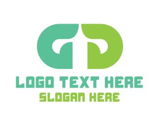 Hybrid - Green Double G logo design
