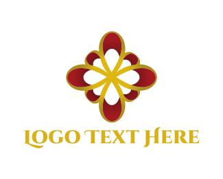 Loop - Golden Flower logo design