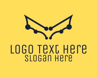 Esports - Digital Bat Wings logo design