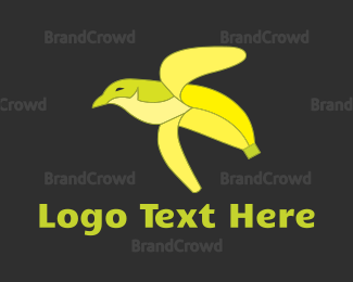Peel - Banana Bird logo design