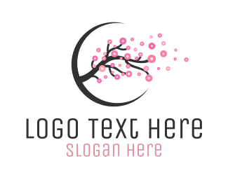 Japanese Restaurant - Cherry Blossom Branch logo design