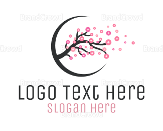 Taiwan - Cherry Blossom Branch logo design