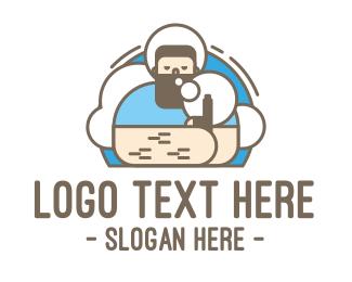 Weed - Hipster Vape logo design