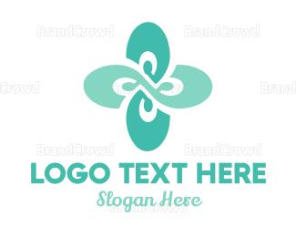 Mint Flower Logo Maker