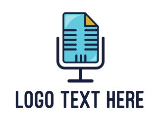 Doc - Blue Audio File logo design