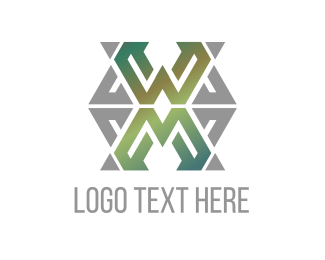 Celtic - Green Grey Letter X  logo design