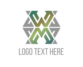 Roman Numeral - Green Grey Letter X logo design