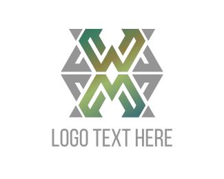 Texture - Green Letter X  logo design