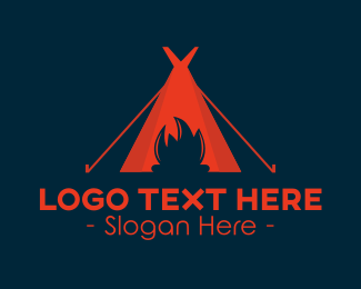 Campsite - Camp Fire logo design