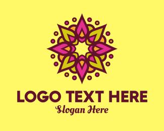 Massage - Beauty Hindi Spa Flower logo design