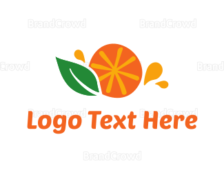 Green And Orange - Orange Juice logo design