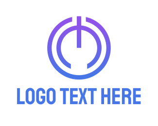 Mobile Phone - Power Button logo design