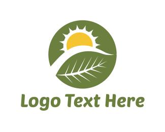 Sunny - Sun Plant logo design