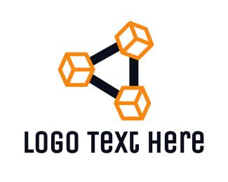 Computer Science - Cube Link logo design