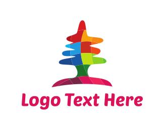 Artistic - Colorful Tree logo design
