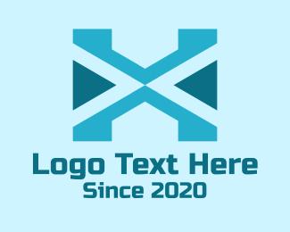Weaving - Tribal Letter X logo design