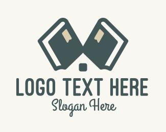 Room - Library Book Shop logo design
