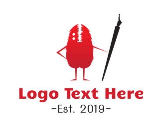 Author - Writer Monster logo design