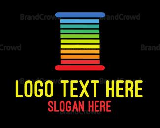 Rainbow - Rainbow Threads logo design