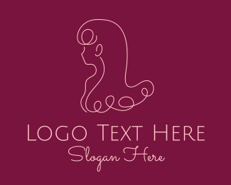 Facial - Monoline Hair Salon logo design