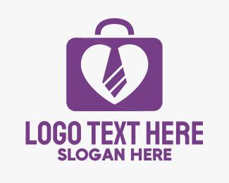 Suitcase - Luggage Heart logo design