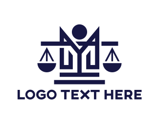 Law Firm - Legal M Monogram logo design