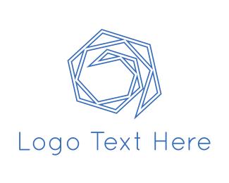 Spiral - Blue Maze logo design