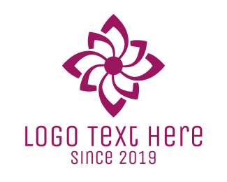 Flower - Purple Flower logo design