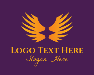 Spirit - Orange Star Wings logo design