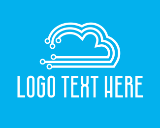 Green Cloud - Circuit Cloud logo design